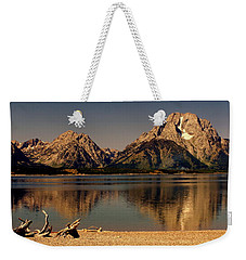 Weekender Tote Bag featuring the photograph Teton Panoramic by Marty Koch