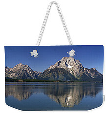 Weekender Tote Bag featuring the photograph Teton Panoramic View by Marty Koch
