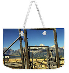 Weekender Tote Bag featuring the photograph Teton Ranch by Marty Koch