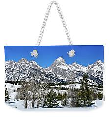 Teton Winter Landscape Weekender Tote Bag