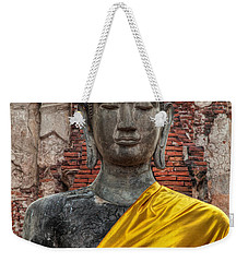 Weekender Tote Bag featuring the photograph Thai Buddha by Adrian Evans
