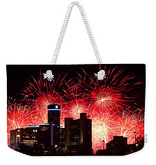 Weekender Tote Bag featuring the photograph The 54th Annual Target Fireworks In Detroit Michigan - Version 2 by Gordon Dean II