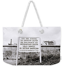 Berlin Wall American Sector Weekender Tote Bag
