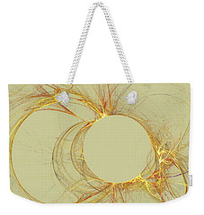 Weekender Tote Bag featuring the digital art The Arcs by Kim Sy Ok