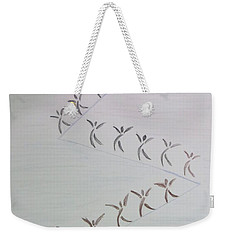 Weekender Tote Bag featuring the drawing The Ascent by Sonali Gangane
