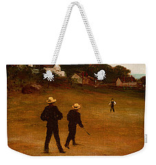The Ball Players Weekender Tote Bag by William Morris Hunt