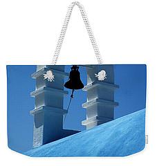 The Bell Tower In Mykonos Weekender Tote Bag by Vivian Christopher