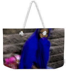 Weekender Tote Bag featuring the photograph The Blue Shawl by Lynn Palmer