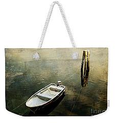 The Boat In Winter Weekender Tote Bag