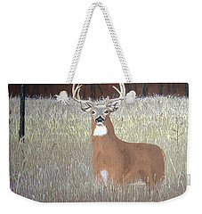 Weekender Tote Bag featuring the painting The Buck Stops Here by Norm Starks