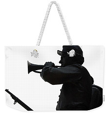 Weekender Tote Bag featuring the photograph The Bugler by Cindy Manero