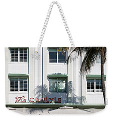 The Carlyle Hotel 2. Miami. Fl. Usa Weekender Tote Bag