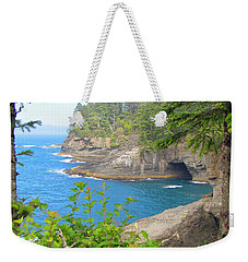 Weekender Tote Bag featuring the photograph The Caves Of Cape Flattery  by Tikvah's Hope
