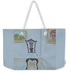 Weekender Tote Bag featuring the painting The Chair by Judith Rhue