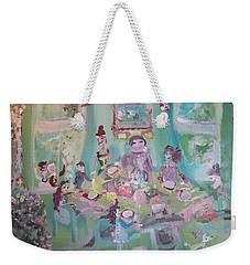The Christmas Dinner Weekender Tote Bag by Judith Desrosiers