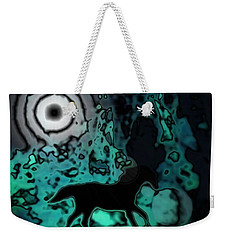 Weekender Tote Bag featuring the photograph The Eclipsed Horse by Jessica Shelton