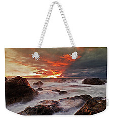 Weekender Tote Bag featuring the photograph The Edge Of The Storm by Beverly Cash