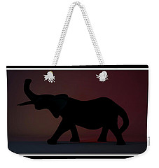 Weekender Tote Bag featuring the digital art The Elephant... by Tim Fillingim