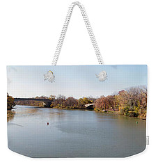Weekender Tote Bag featuring the photograph The Erie Canal Crossing The Genesee River by William Norton