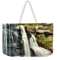 Weekender Tote Bag featuring the photograph The Face Of The Falls by Mark Dodd