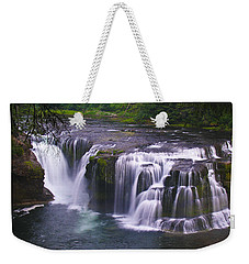 Weekender Tote Bag featuring the photograph The Falls by David Gleeson