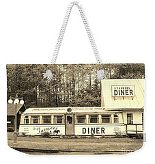 Weekender Tote Bag featuring the photograph The Farmers Diner In Sepia by Sherman Perry
