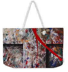 Weekender Tote Bag featuring the painting The Greatest Love by Kume Bryant