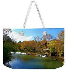 Weekender Tote Bag featuring the photograph The Grist Big River by Peggy Franz