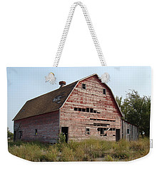 Weekender Tote Bag featuring the photograph The Hole Barn by Bonfire Photography