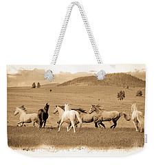 The Horse Herd Weekender Tote Bag by Steve McKinzie