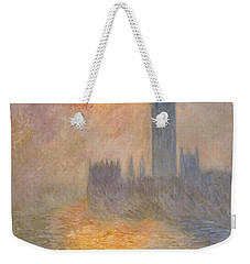 The Houses Of Parliament At Sunset Weekender Tote Bag by Claude Monet