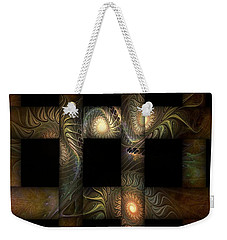 Weekender Tote Bag featuring the digital art The Indomitability Of The Idea by Casey Kotas