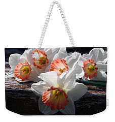 Weekender Tote Bag featuring the photograph The Ladies Of Spring by Kay Novy