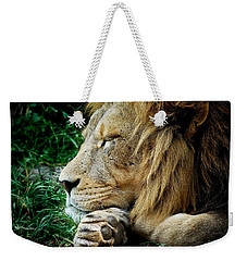 The Lions Sleeps Weekender Tote Bag