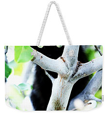 Weekender Tote Bag featuring the photograph The Little Huntress by Jessica Shelton