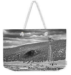 the lonly windmill in B and W Weekender Tote Bag