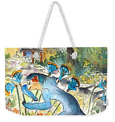 The Minotaur In Knossos Weekender Tote Bag by Miki De Goodaboom