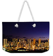 The Moon And Venus Over Honolulu Weekender Tote Bag