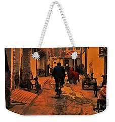 Weekender Tote Bag featuring the photograph The Neighborhood by Lydia Holly