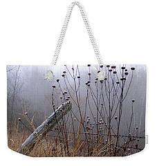 The Old Fence - Blue Misty Morning Weekender Tote Bag