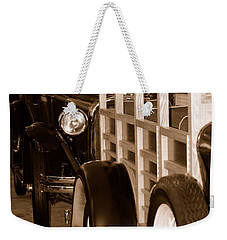 The Old Line Up Weekender Tote Bag by Holly Blunkall