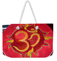 Weekender Tote Bag featuring the painting The Omnipotent Aumkar by Sonali Gangane