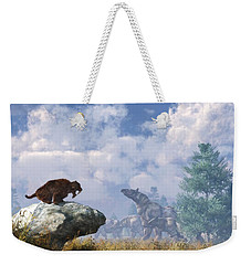 The Paraceratherium Migration Weekender Tote Bag by Daniel Eskridge