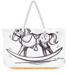 Weekender Tote Bag featuring the drawing the Perfect Horse by George Pedro