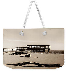 Weekender Tote Bag featuring the photograph The Pier by Shannon Harrington