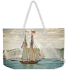 Weekender Tote Bag featuring the photograph The Pride Of Baltimore by Verena Matthew