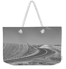 Weekender Tote Bag featuring the photograph The Quiet Road by Kathleen Grace