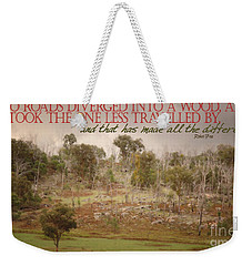 The Road Less Travelled Weekender Tote Bag