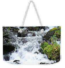 Weekender Tote Bag featuring the photograph The Roadside Stream by Chalet Roome-Rigdon