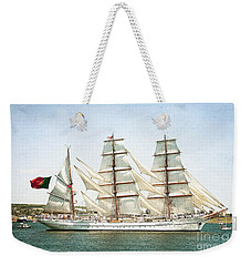 Weekender Tote Bag featuring the photograph The Sagres by Verena Matthew